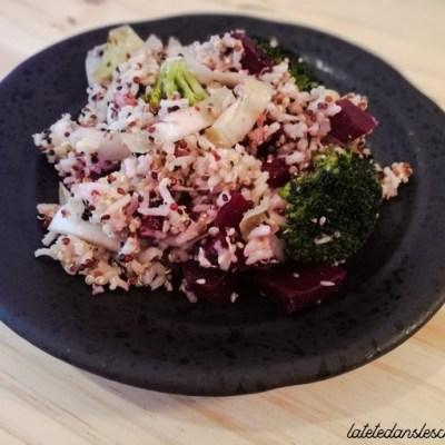 Salade de quinoa, riz et légumes: Recette pauvre en fodmap