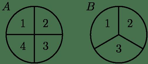 [asy] pair A=(0,0); pair B=(3,0); draw(Circle(A,1)); draw(Circle(B,1)); draw((-1,0)--(1,0)); draw((0,1)--(0,-1)); draw((3,0)--(3,1)); draw((3+sqrt(3)/2,-.5)--(3,0)); draw((3,0)--(3-sqrt(3)/2,-.5)); label(