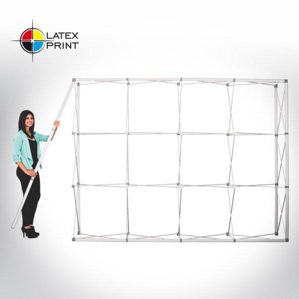 ścianka tekstylna typu popup z grafiką tekstylną HOPUP