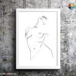 body one line, poster