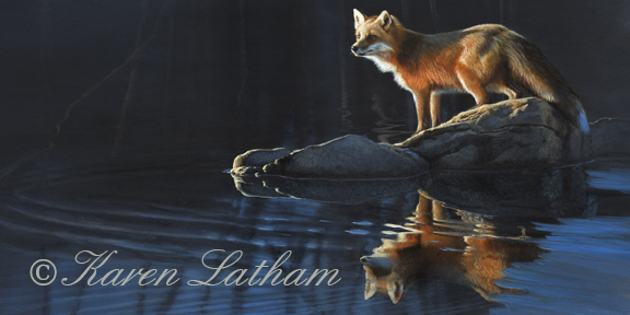 Northwoods Dawn - Red Fox by Karen Latham sgn