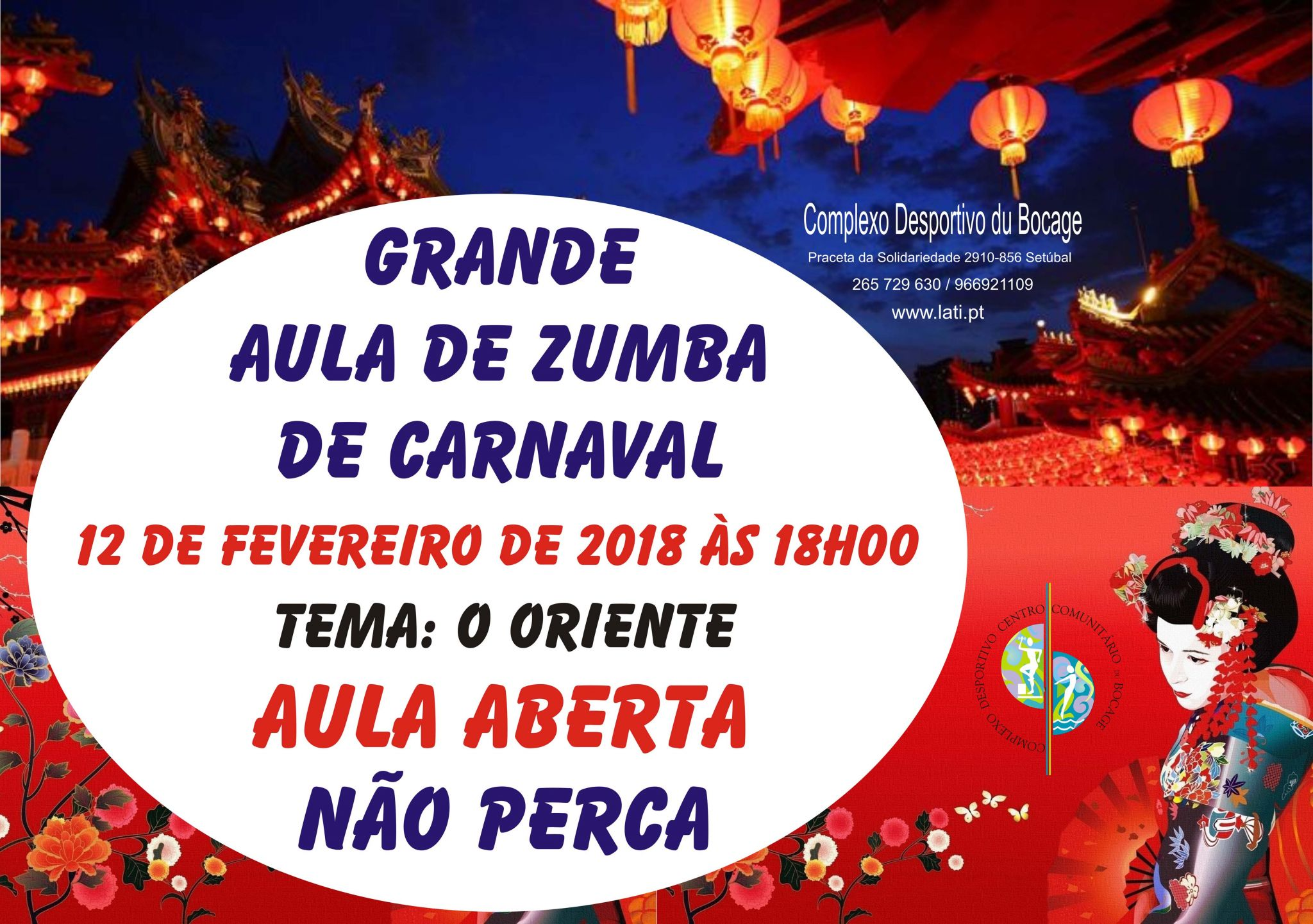 Grande aula de Zumba de Carnaval