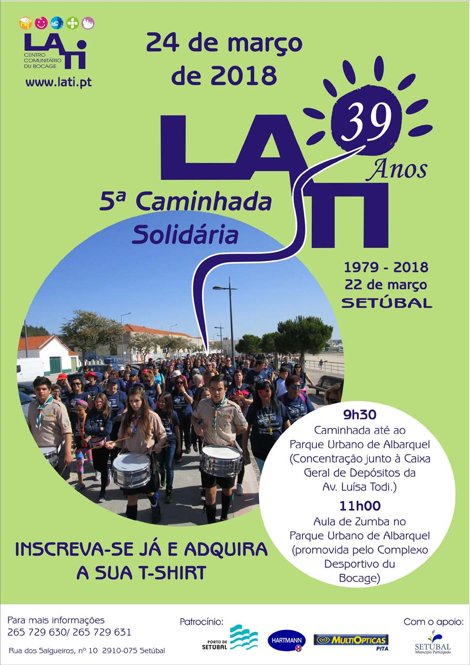 Participe na V Caminhada Solidária da LATI – Inscreva-se já!