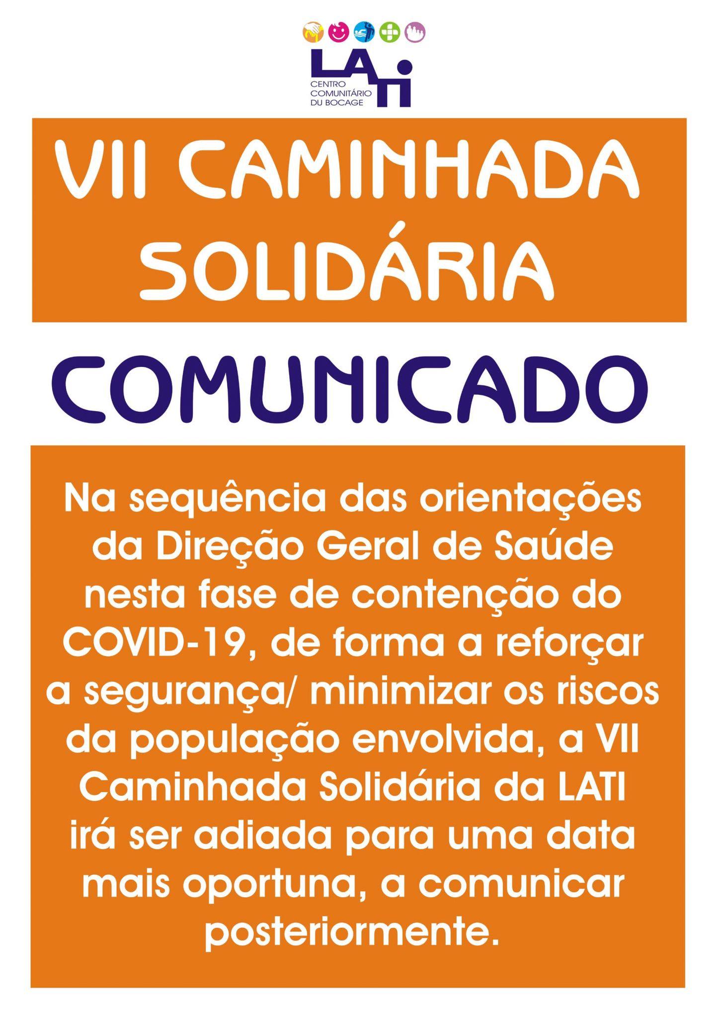VII Caminhada Solidária da LATI vai ser adiada