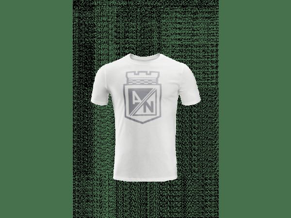 be902d16347 Atlético Nacional 2019 camiseta de calle blanca escudo - Los Del Sur ...