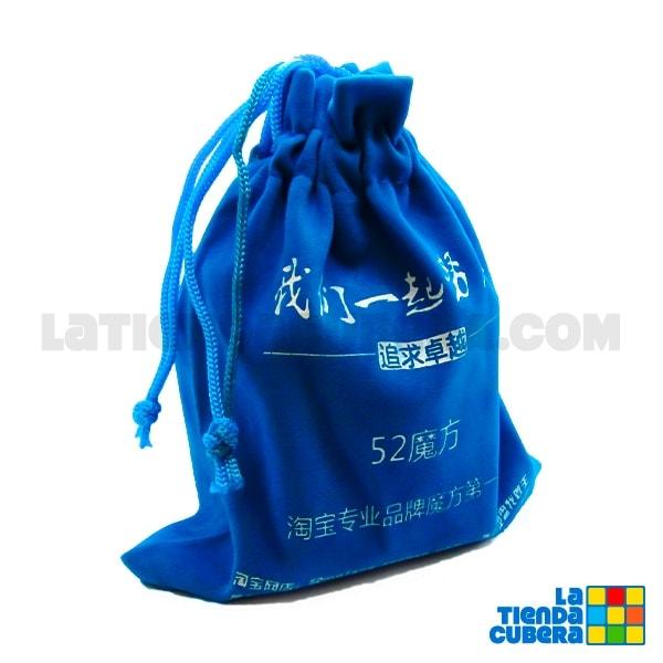 Bolsa porta cubo en gamuza