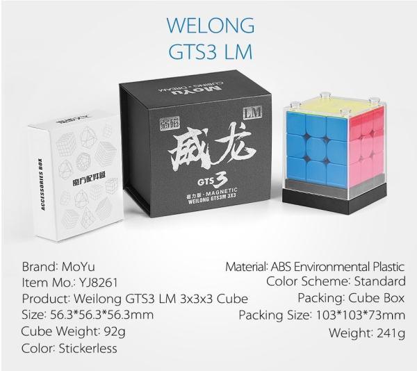 Nuevo GTS3 LM MoYu Weilong GTS V3 3x3x3 magntico rompecabezas de cubo GTS3LM profesional GTS 3 LM 3x3 velocid