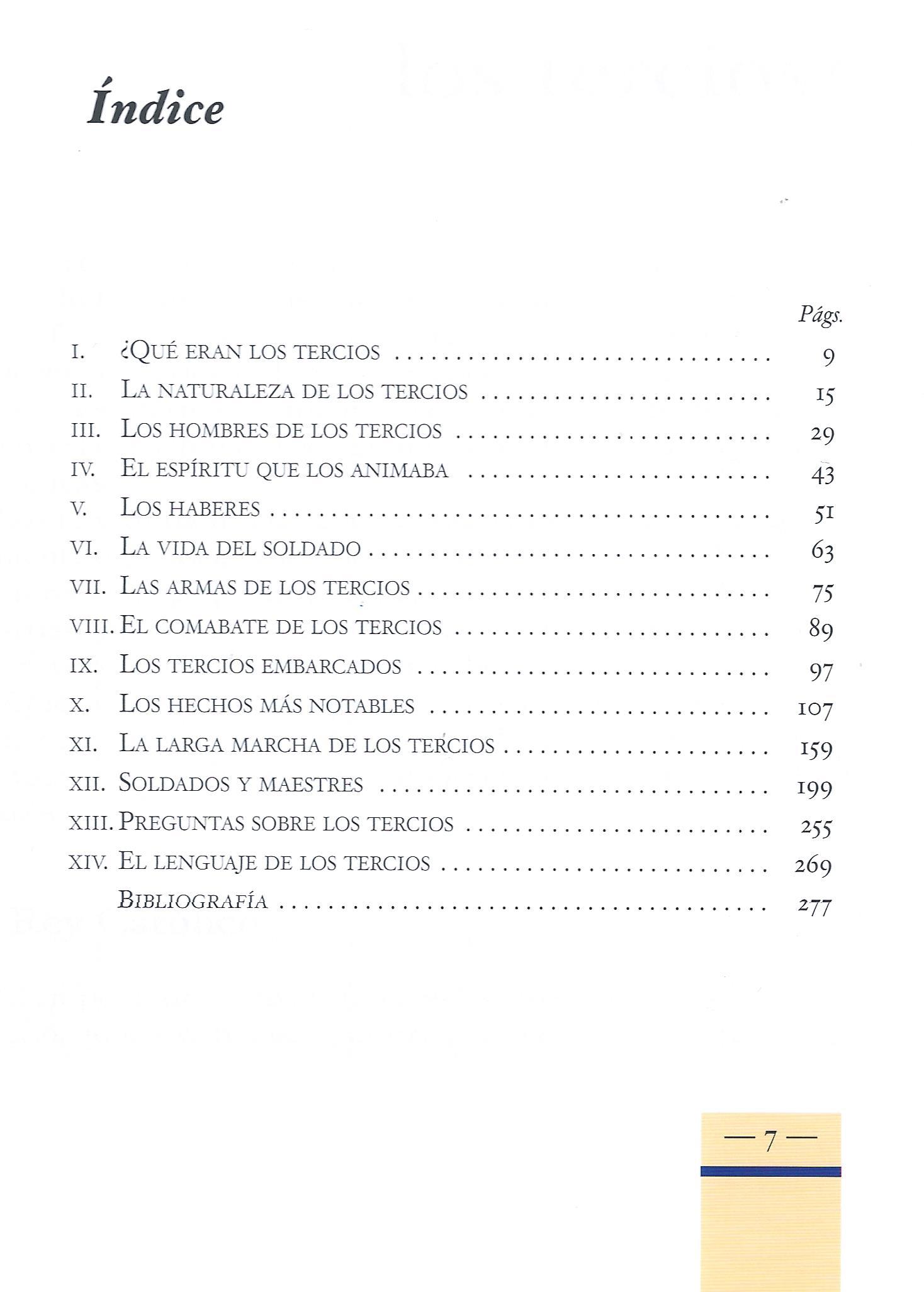 Indice Tercios de España