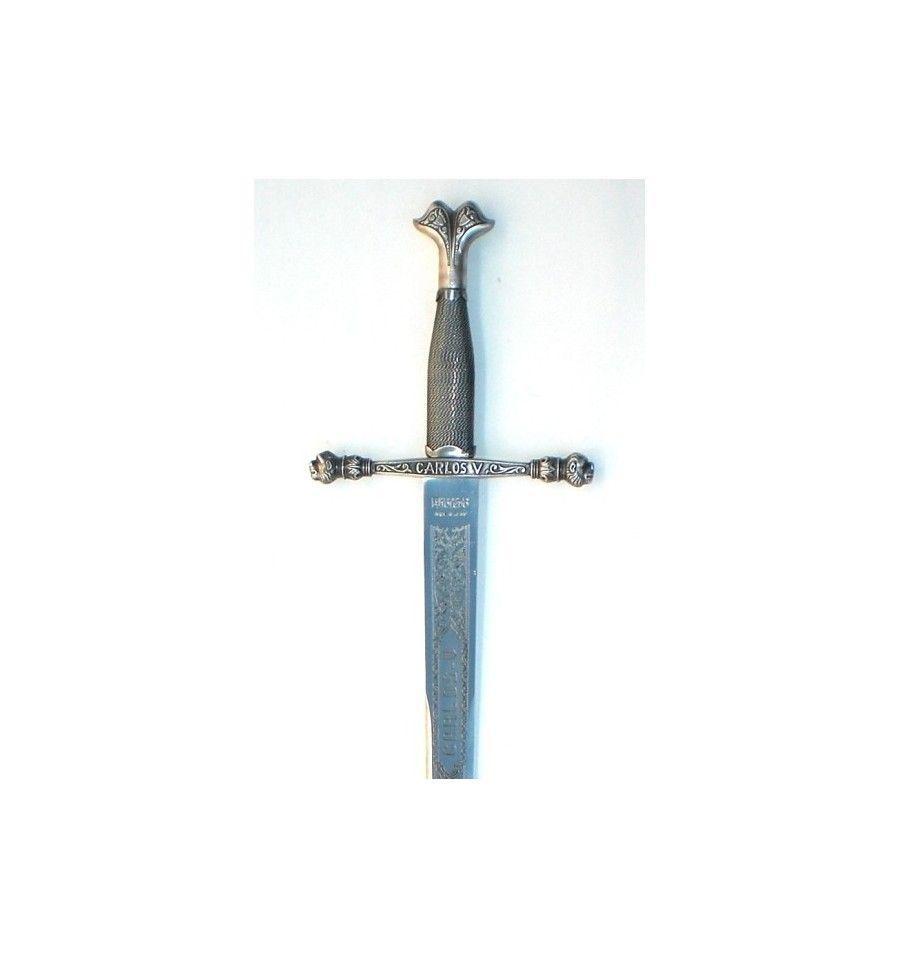 Espada CARLOS V  plateada