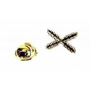 Pin de traje «Cruz de Borgoña».Acero,18 mm
