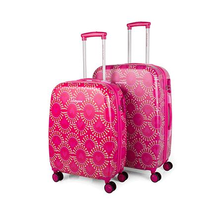 44c83fbde71 Set de dos maletas de Agatha Ruiz de la Prada. Dos maletas rígidas.