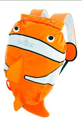 Mochilas infantiles trunki. Mochilas de niño con forma de peces de colores.