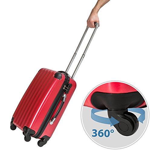 Conjunto de tres maletas rígidas TecTake.