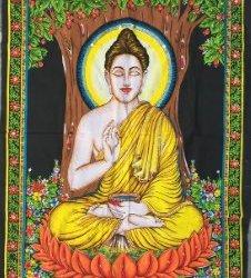 B TAPIZ TELA PINTADA BUDHA BUDA INDIA LATIENDADEYOA