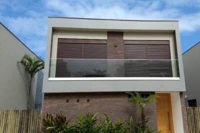 Revestimento das fachadas - porcelanato 3x1m
