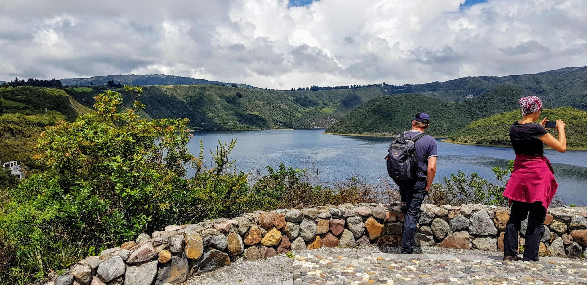 Day hike around Cuicocha Lagoon