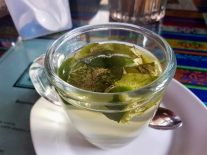 Coca tea - great for the altitude!