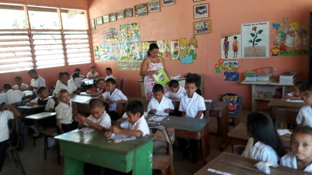 A Classroom in Gloria's school.