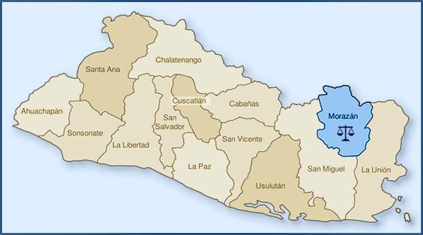 mapa de morazan