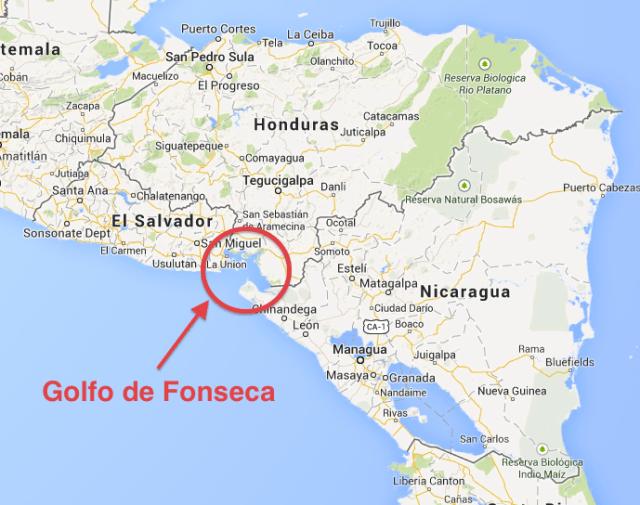 mapa golfo de fonseca