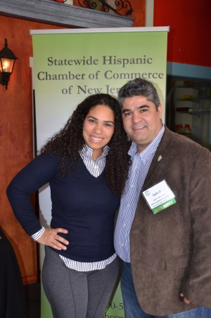 Ona Diaz-Santin and Luis O De la Hoz at the SHCCNJ event