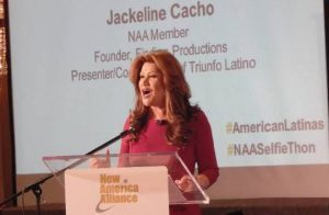 Jackeline Cacho, an energetic and determined Latina