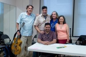 With crew Howard Post, Jose Zayas, Mary McGinley and Noemi de la Puente.