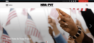 NRA PVF your vote is your choice website focuses on registering minority voters and working-class citizens.