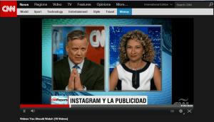 Monica Taher en CNN