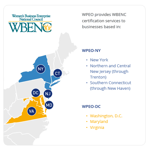 WPEO-DC area of reach for women=owned small businesses
