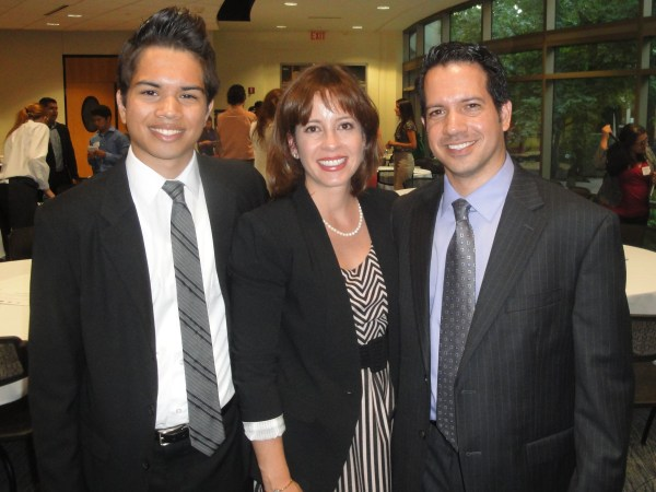 Christian Moreno, Melisa Lopez Franzen, Luis Moreno. Cross-Cultural Marketing event by the Twin Cities Business Peer Network on July 24, 2014. Photo courtesy of Luis Moreno. Latino talent