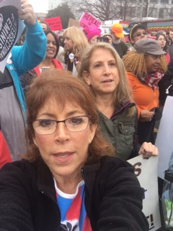 Robin Tobias-Kasowitz (L) and Karen Flannery (R) at Women's March on Washington