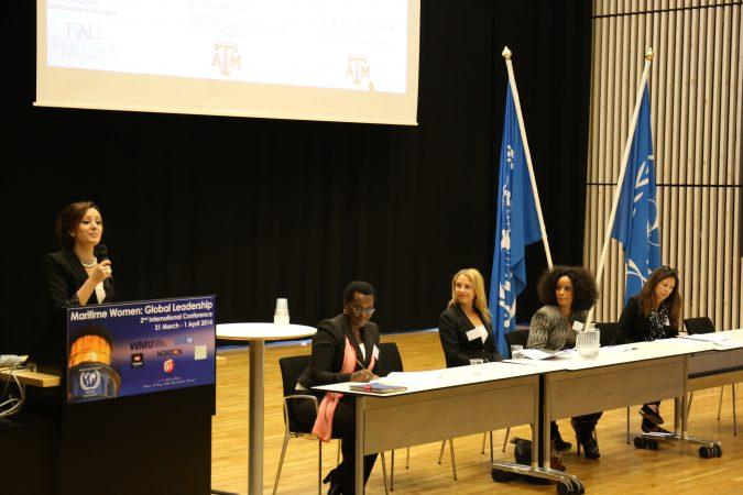 Ana Larrea-Albert presenter and panelist at Women Maritime Global Leadership at World Maritime University, Sweden 2015