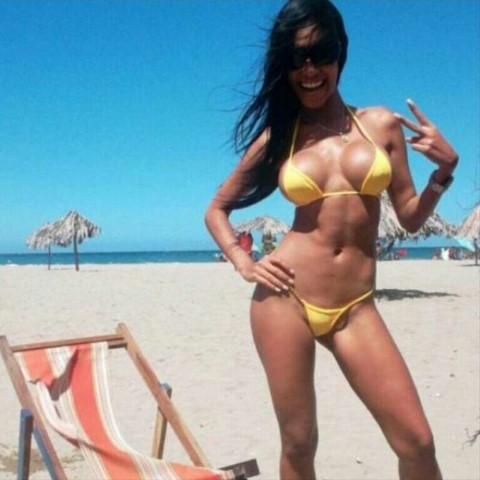 Sexy Mexican Beach Girl