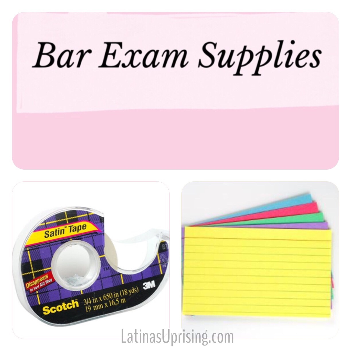 Necessary Study Supplies for Bar Exam – Latinas Uprising