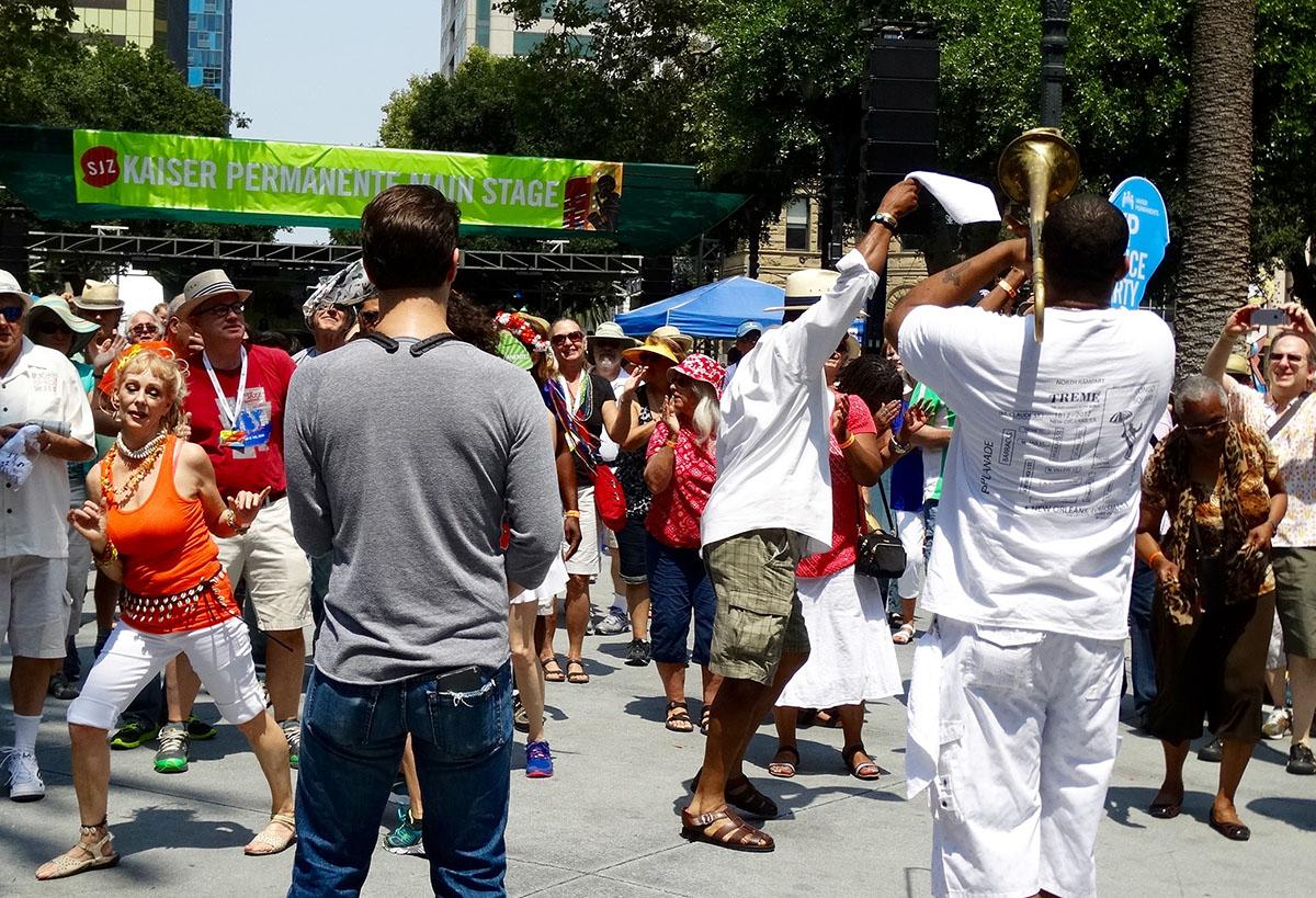Glen David Andrews Band at the San Jose Jazz Summer Fest 2015 03