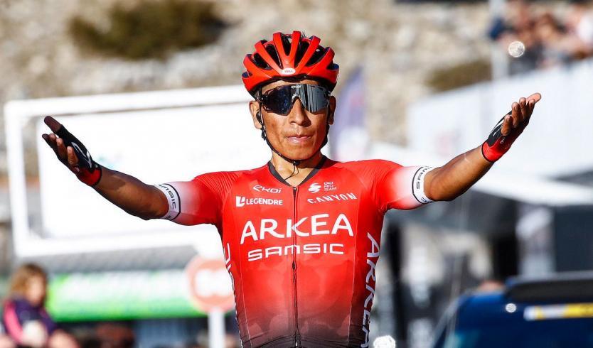 Nairo Quintana gana la última etapa de la París-Niza y Sergio Higuita alcanzó el podio