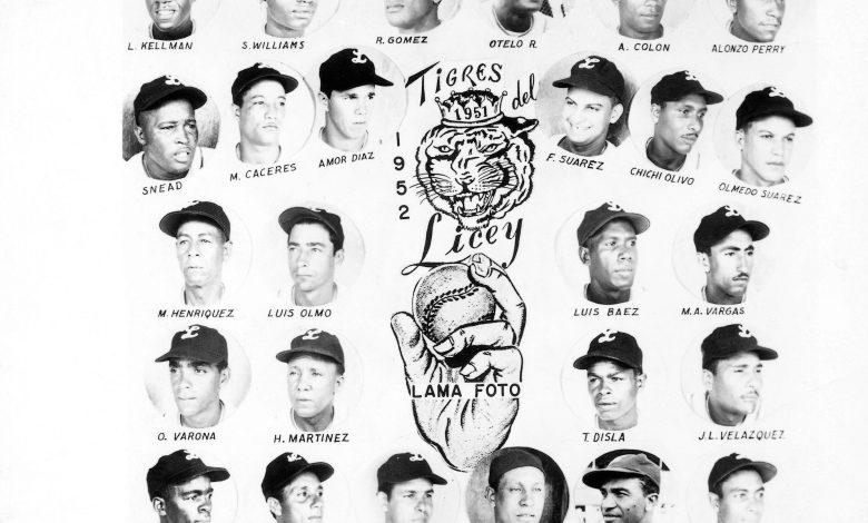 Tigres del Licey 1952 team photo.