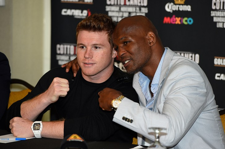Canelo Alvarez and Timothy Bradley