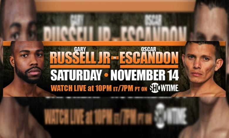 Gary Russell JR vs Oscar Escandon 11/14/15