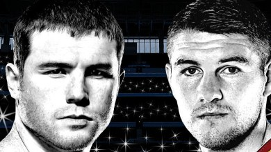 Photo of Canelo vs Smith at AT&T Stadium in Arlington on Sept. 17