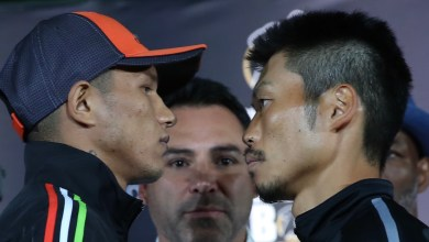 "Photo of MIGUEL ""EL ALACRAN"" BERCHELT AND TAKASHI MIURA HOST FINAL MEDIA PRESS CONFERENCE"