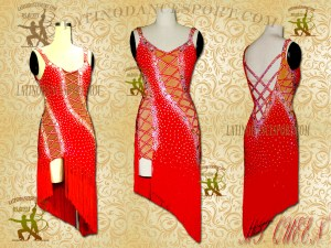 Latinodancesport Ballroom Dance LDS-03 Latin Dress Tailored