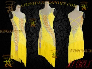LDS-003 LATINODANCESPORT BALLROOM DANCE LATIN DRESS TAILORED COMPETITION