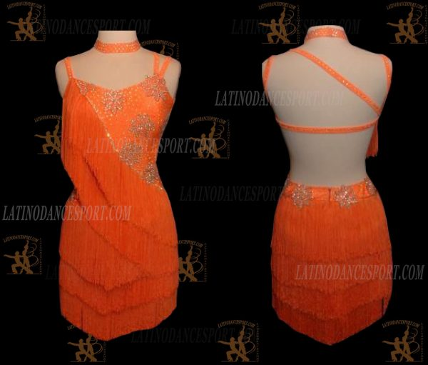 LATINODANCESPORT.COM-Ballroom LATIN RHYTHM Dance Dress-LDS-27