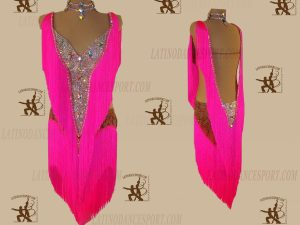 LATINODANCESPORT.COM-Ballroom LATIN RHYTHM Dance Dress-LDS-28