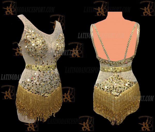 LATINODANCESPORT.COM-Ballroom LATIN RHYTHM Dance Dress-LDS-39