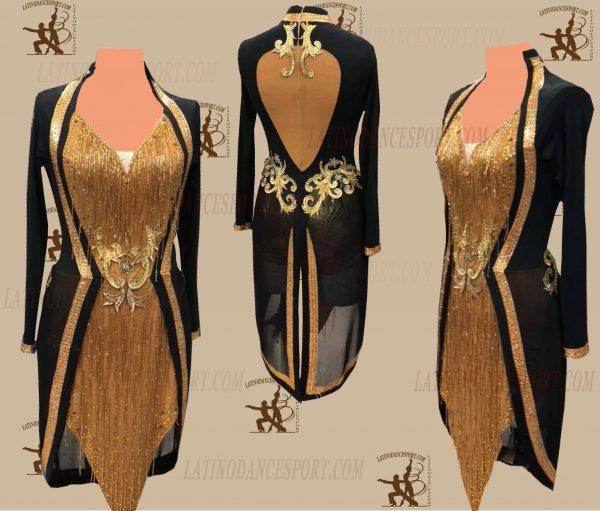 LATINODANCESPORT.COM-Ballroom LATIN RHYTHM Dance Dress-LDS-42