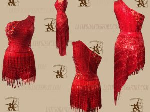 LATINODANCESPORT.COM-Ballroom LATIN RHYTHM Dance Dress-LDS-45