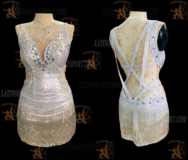 LATINODANCESPORT.COM-Ballroom LATIN RHYTHM Dance Dress-LDS-46